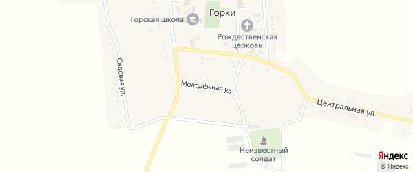 Молодежная улица на карте села Горки с номерами домов
