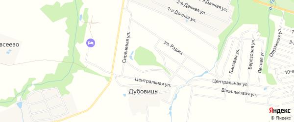 Карта поселка ДНТ Коттеджио в Ярославская области с улицами и номерами домов