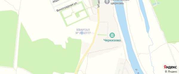 Карта села Черкизово города Коломны в Московской области с улицами и номерами домов