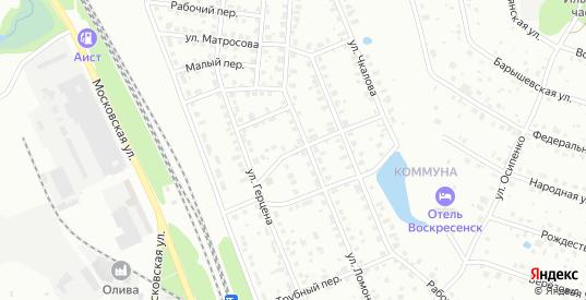 Улица Герцена в Воскресенске с номерами домов на карте. Спутник и схема онлайн
