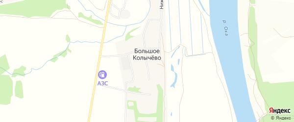 Карта села Большого Колычево города Коломны в Московской области с улицами и номерами домов