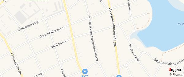 Улица Погибших Революционеров на карте Роговской станицы Краснодарского края с номерами домов