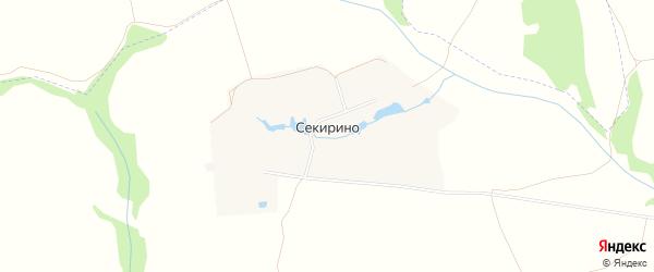 Карта деревни Секирино города Зарайска в Московской области с улицами и номерами домов