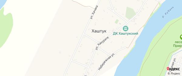 Хакурате 3-й переулок на карте аула Хаштука с номерами домов