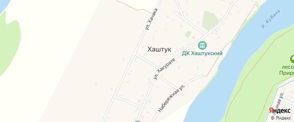Хакурате 3-й переулок на карте аула Хаштука Адыгеи с номерами домов