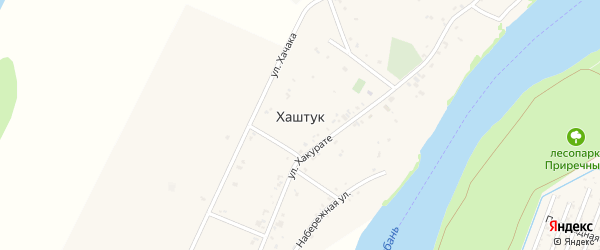 Улица Хакурате Ш.У. на карте аула Хаштука Адыгеи с номерами домов