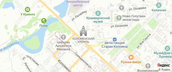 ГСК Спутник-11 на карте Коломны с номерами домов
