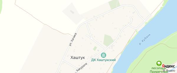 Школьная улица на карте аула Хаштука Адыгеи с номерами домов