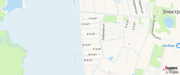 Садовое товарищество Вереск на карте Электрогорска с номерами домов