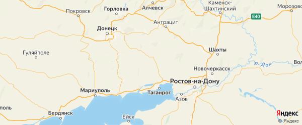 Карта Матвеево-курганского района Ростовской области с городами и населенными пунктами