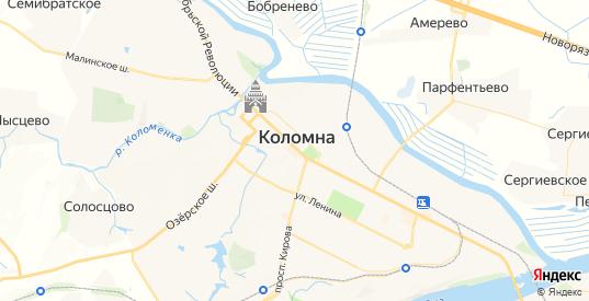 Карта Коломны с улицами и домами подробная. Показать со спутника номера домов онлайн