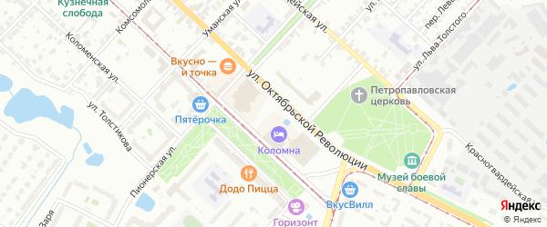 ГСК Запруды-3 на карте Коломны с номерами домов