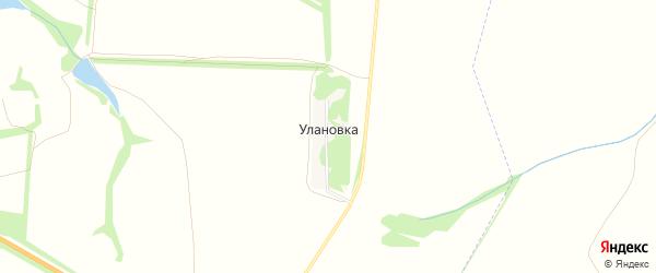 Карта деревни Улановки в Тульской области с улицами и номерами домов