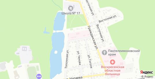 Тополиная улица в Воскресенске с номерами домов на карте. Спутник и схема онлайн