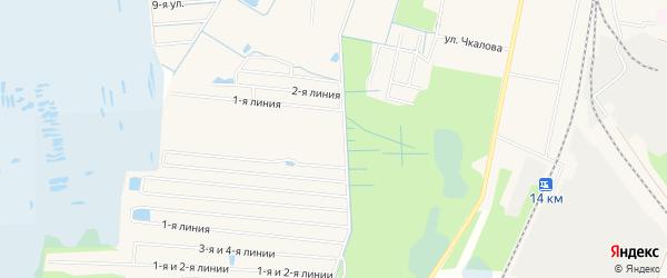 Садовое товарищество Ветеран Горвоенкомат на карте Электрогорска с номерами домов