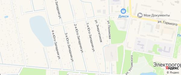 1-я Юго-Западная улица на карте Электрогорска с номерами домов