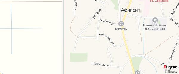 Ленина 2-й переулок на карте аула Афипсипа Адыгеи с номерами домов