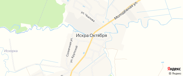 Территория СНТ Искорка на карте поселка Искры Октября Ярославская области с номерами домов