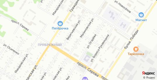 Новоселов/Малиновская улица в Рыбинске с номерами домов на карте. Спутник и схема онлайн