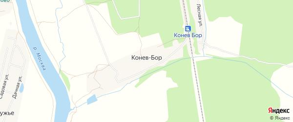 Карта деревни Конев-Бор города Коломны в Московской области с улицами и номерами домов