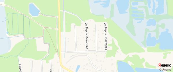 Улица Героя Макарова на карте Электрогорска с номерами домов