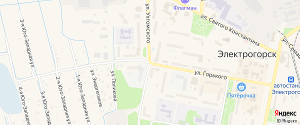 Улица Ухтомского на карте Электрогорска с номерами домов
