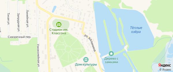 Улица Калинина на карте Электрогорска с номерами домов