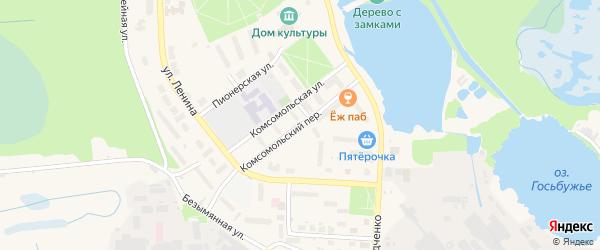 Комсомольский переулок на карте Электрогорска с номерами домов