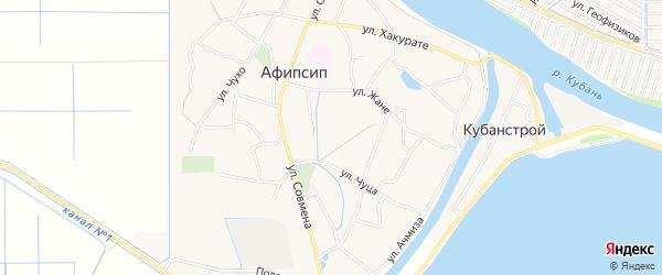 Карта аула Афипсипа в Адыгее с улицами и номерами домов