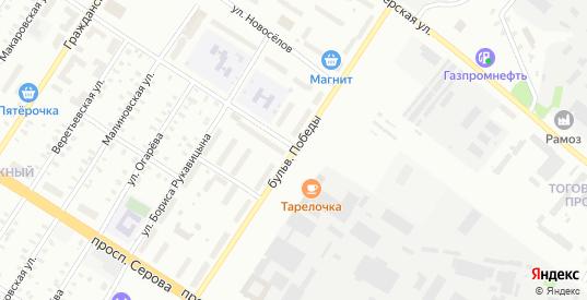 Улица 1-я Товарищеская/Победы в Рыбинске с номерами домов на карте. Спутник и схема онлайн