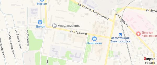 Улица М.Горького на карте Электрогорска с номерами домов
