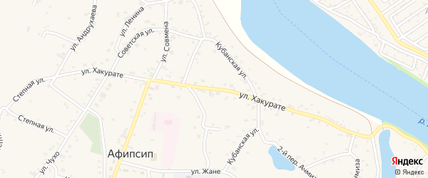Улица Хакурате на карте аула Афипсипа с номерами домов