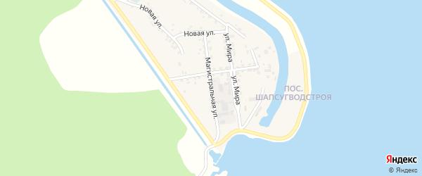 Магистральная улица на карте аула Афипсипа Адыгеи с номерами домов