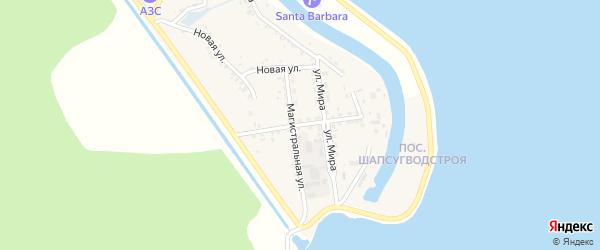 Коммунальная улица на карте аула Афипсипа Адыгеи с номерами домов