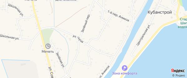 Извилистая улица на карте аула Афипсипа Адыгеи с номерами домов