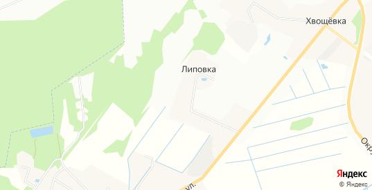 СТ Роса на карте деревни Липовки с номерами домов