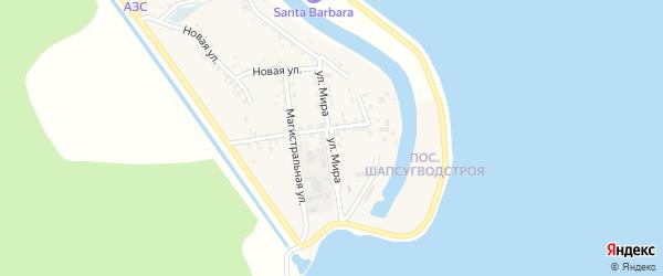 Улица Мира на карте аула Афипсипа Адыгеи с номерами домов