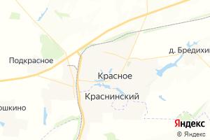 Карта с. Красное Липецкая область