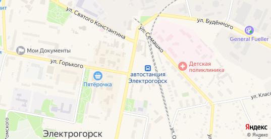 Павловский тупик в Электрогорске с номерами домов на карте. Спутник и схема онлайн