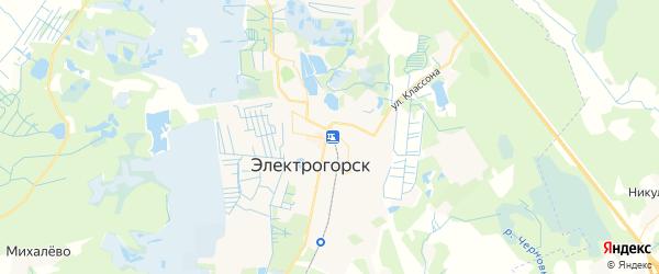 Карта Электрогорска с районами, улицами и номерами домов
