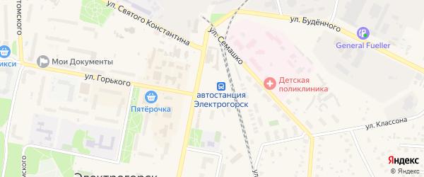 4-й Юго-Западный тупик на карте Электрогорска с номерами домов