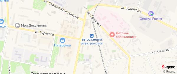 Вокзальная площадь на карте Электрогорска с номерами домов