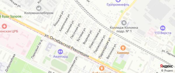 Водяная улица на карте Коломны с номерами домов