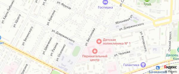 Улица Бессонова на карте Коломны с номерами домов