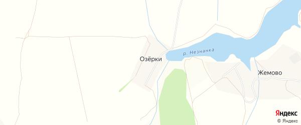 Карта деревни Озерков города Зарайска в Московской области с улицами и номерами домов
