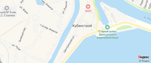 Центральная улица на карте Кубаньстроя поселка с номерами домов