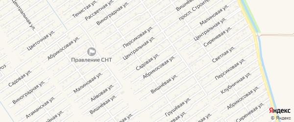 Садовая улица на карте Строителя с номерами домов