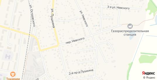 Переулок Невского в Электрогорске с номерами домов на карте. Спутник и схема онлайн