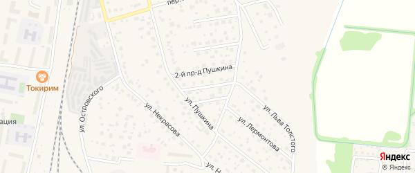 Пушкина 3-й проезд на карте Электрогорска с номерами домов