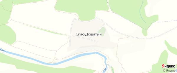 Карта села Спас-Дощатого города Зарайска в Московской области с улицами и номерами домов